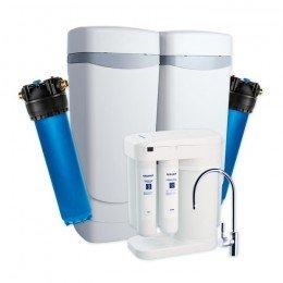 Умягчитель Аквафор WaterMax APQ + Гросс 2 шт. + Морион + Соль 2 мешка
